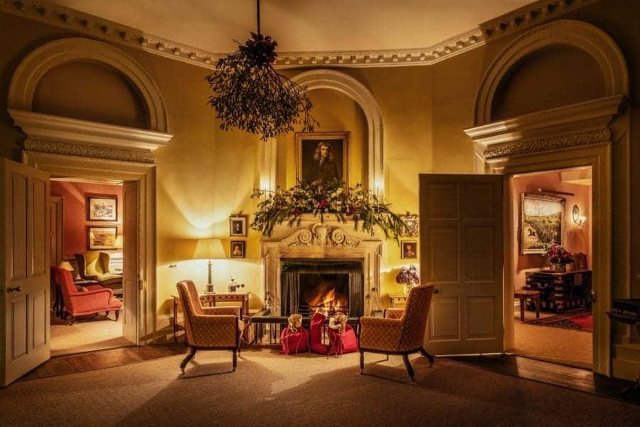 christmas fireplace farleigh wallop